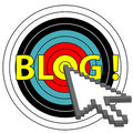 Blog on Target Click with Arrow Cursor Icon Royalty Free Stock Photo