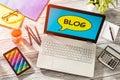 Blog Weblog Media Digital Dictionary Online Concept Royalty Free Stock Photo