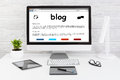 Blog Weblog Media Digital Dictionary Online Concepts. Royalty Free Stock Photo
