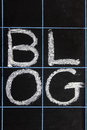 Blog word handwritten on a blackboard Royalty Free Stock Photography