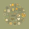 Blogging concept illustration