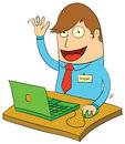 Blogging is fun illustration of a Stock Photos