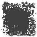 Blom- leavesprydnad för bakgrund Arkivbild