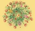 Blom- radial för abstrakt design Royaltyfri Bild