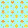 Blom- tegelplattor Royaltyfri Bild