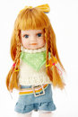 Blond doll on white Royalty Free Stock Images