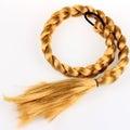 Blond hair braid Royalty Free Stock Photo