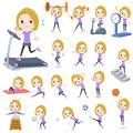 Blond hair woman Sports & exercise