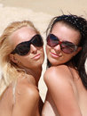 Blonde and brunette Royalty Free Stock Photo