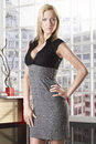 Blonde business woman full-lenght Stock Photo