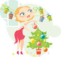 Blonde Christmas Royalty Free Stock Photo
