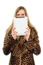 Blonde covers face Stock Photography