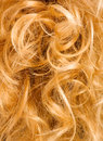 Blonde curly hair - background Royalty Free Stock Photos