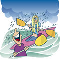 Blonde girl on kayak Royalty Free Stock Photo