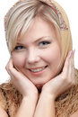 Blonde girl in kerchief Royalty Free Stock Photo