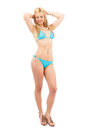 Blonde girl in swimsuit Stock Images