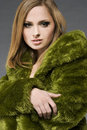 image photo : Blonde in green