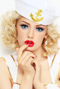 Blonde sailor Royalty Free Stock Photo