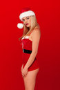 Blonde sexy Santa Claus Stock Photography