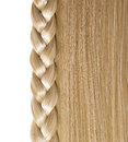Blonde straight hair and braid or plait isolated on white care salon Royalty Free Stock Images