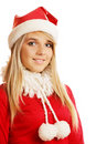 Blonde in xmas clothes Royalty Free Stock Photo