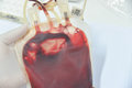 Blood bag in laboratory