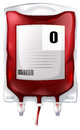 A blood bag with type O blood Stock Photos