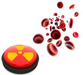 Blood cells and button Stock Photo