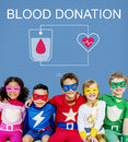 Blood Donation Aid Heart Care Concept Royalty Free Stock Photo