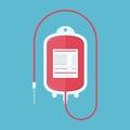 Blood donation bag.