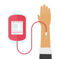 Blood donation illustration.