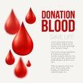Blood donation Medical background. Vector illustration