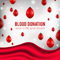 Blood donation poster, realistic illustration