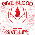 Blood donation sign Royalty Free Stock Photos