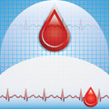 Blood donation vector. Stock Photos