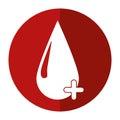 Blood drop donate donor cross shadow