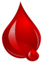 Blood drop of red illustration Stock Images