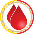 Blood drops logo Stock Photo
