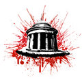 Blood explosion monument Royalty Free Stock Photography