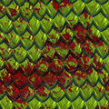 Blood on green dragon skin Stock Photography