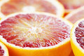 Blood orange close up Royalty Free Stock Image