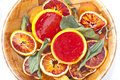 Blood orange jelly Stock Images