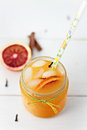 Blood orange and pear juice Royalty Free Stock Images