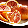 Blood oranges Stock Photography