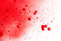Blood paint spatters splashes and sprays isolated on white Stock Photography