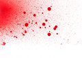 Blood paint spatters splashes and sprays isolated on white Royalty Free Stock Photo