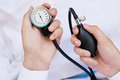 Blood pressure gage in a doctor s hands medical concept Royalty Free Stock Photos