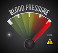Blood pressure level measure meter from low to high concept illustration design Royalty Free Stock Photo