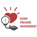 Blood pressure measurement icon - sphygmomanometer Royalty Free Stock Photo