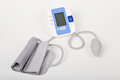 Blood pressure measuring device on white background Stock Images